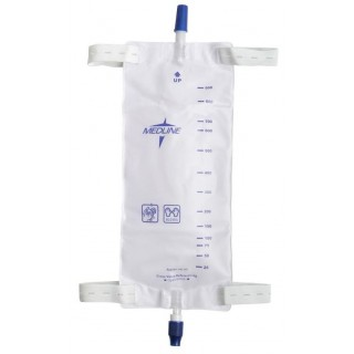 Medline # DYND12578 - Leg Bag 1100ml Large w/Straps Ea, 48 EA/CS