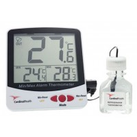 Triple Display - Large Digit Alarm Digital Thermometer, Refrigerator/Freezer - Glycol/Water 30ml Bottle, 1/ea