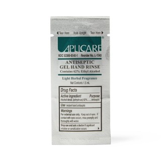 Aplicare # APLL1540 - Sanitizer Hand Gel, 1.5 ml, 62% Ethyl alcohol, Packet (10 boxes of 50 packets/cs), 500 Per/Cs