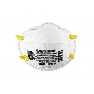 3M #8210 - NIOSH Approved, Mask Face, Respirator Particulate N95 White 20/Bx