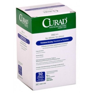 Medline #CUR251390 - DRESSING, GAUZE, PETROLATUM, CURAD, 3