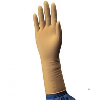 Efect of latex medical gloves with holes