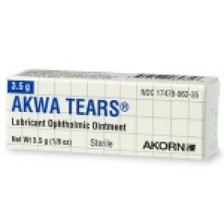 Akorn #17478006235 - Akwa Tears Ophthalmic Ointment 3.5gm/tb
