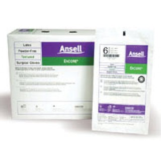 Ansell Healthcare # 5785004 - Glove Surgical PF Latex Size 7.5 Sterile Encore 50Pr/Bx, 4 BX/CA