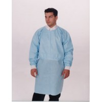 Dual Fabric Cover Gown LF Blue Regular 10/PK, 5 PK/CS