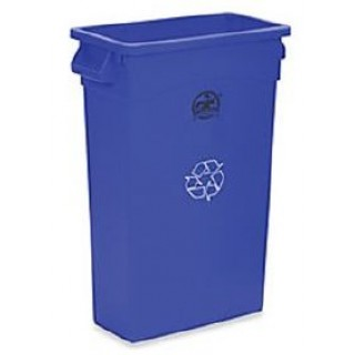 Genuine Joe #307206 - Container Recycling Genuine Joe Plastic 23 Gallon Square/ Blue Ea