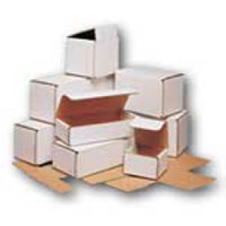 BOX Packaging #121803 - Box Parts Mailers Crdbrd 7x4x3 Stackable/ Flat Storage Wht 50/Pk