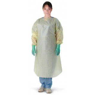 Medline #NON27SMS5XL - Multi-Ply Over Head Open Back Isolation Gown, X-Large, 100 EA/CS