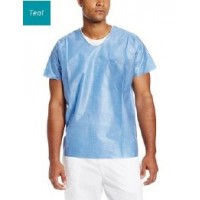 EZ Breathe Scrub Top U Neck Teal 2XL 10/PK