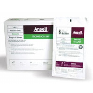 Ansell Perry #5795002 - Glove Surgical PF Latex Sz 6.5 Sterile Encore Acclaim Pairs 50/Bx, 4 BX/CA