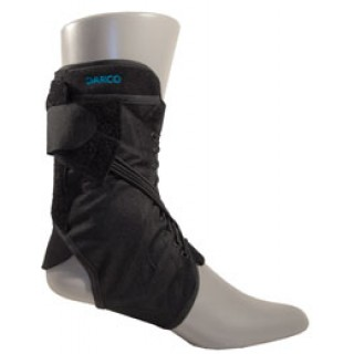Darco International #WB0 - +ANKLE BRACE WEB XS BLK UNIV W/STAYS 1/EA 12/BX 36/CA