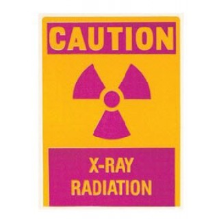 Bar-Ray Products #60966 - Sign Warning Radiation 7