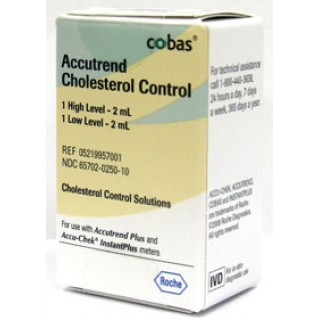 Roche #05219957001 - Accutrend Chol Control 2 Level Ea