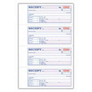 Adams Business Forms #162354 - MONEY/RENT RECEIPT BK 3PT 1/PK