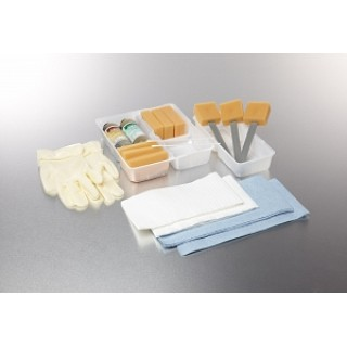 Medline #DYND70360 - TRAY, SKIN SCRUB, WET, PREMIUM, 20/CS