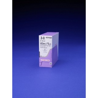 Ethicon #VCP636T - 0 3-18in Coated VICRYL Plus VIO BRD TIES, 24/BX