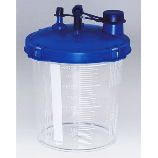 Cardinal Health #65651-220 - Canister Suction Medi-Vac Guardian 2000mL w/ Locking Lid NS Ea, 40 EA/CA