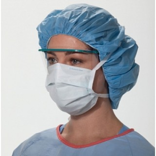 Kimberly-Clark #48100 - MASK, SURG, PLEATED, TIES, BLUE, 300 EA/CS, 6 BX/CS