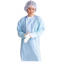 Thumbs Up Polyethylene Isolation Gown, Latex Free, Regular/Large, Blue, 75 EA/CS, 5 BX/CS