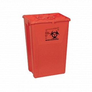 Scott Containers #MDS705318 - CONTAINER, SHARPS, 18 GAL, RED, PORT, PGII, 7 EA/CS