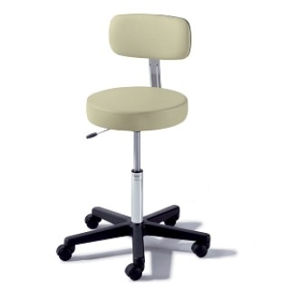 Midmark #273-001-216 - Stool Airlift w/Back Pebble Grey Ea