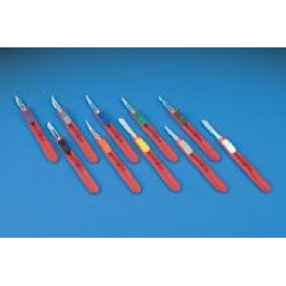 Deroyal #D4511 - SCALPEL, SAFETY, BLUE SLIDER, STERILE, #11, EACH