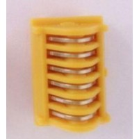LIGACLIP Extra Ligating Clips, Titanium, Large, 6 Clips per Cartridge, Yellow, 18/BX