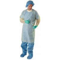 Classic Cover Lightweight Polypropylene Isolation Gowns, Regular/Large, 50 EA/CS, 5 PK/CS