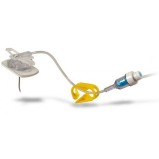 C.R. Bard #SH22-50YS - EZ Huber Safety Infusion Set, Needleless Y-Injection Site without Wings, 22 Gauge x .5